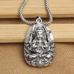 Handmade-925-silver-the-thousand-hand-kuan-yin-buddha-font-b-amulet-b-font-font-b